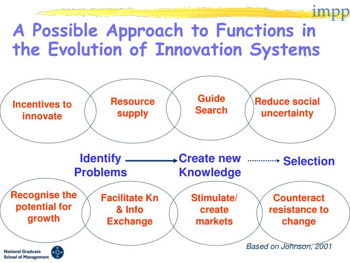 A Possible Approach to Functions in the Evolution of Innovation Systems