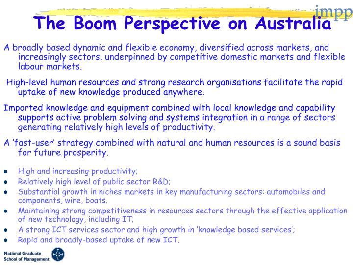 The Boom Perspective on Australia