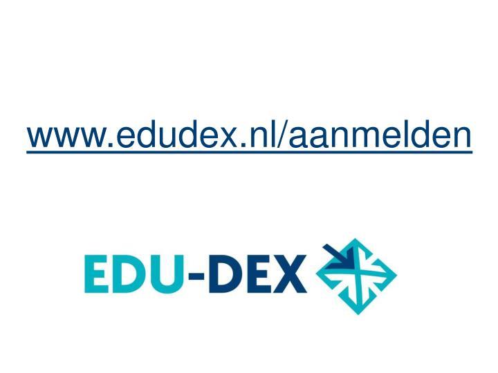 www.edudex.nl/aanmelden