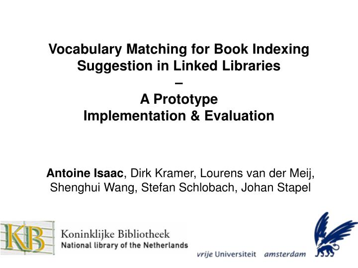 Vocabulary Matching for Book Indexing