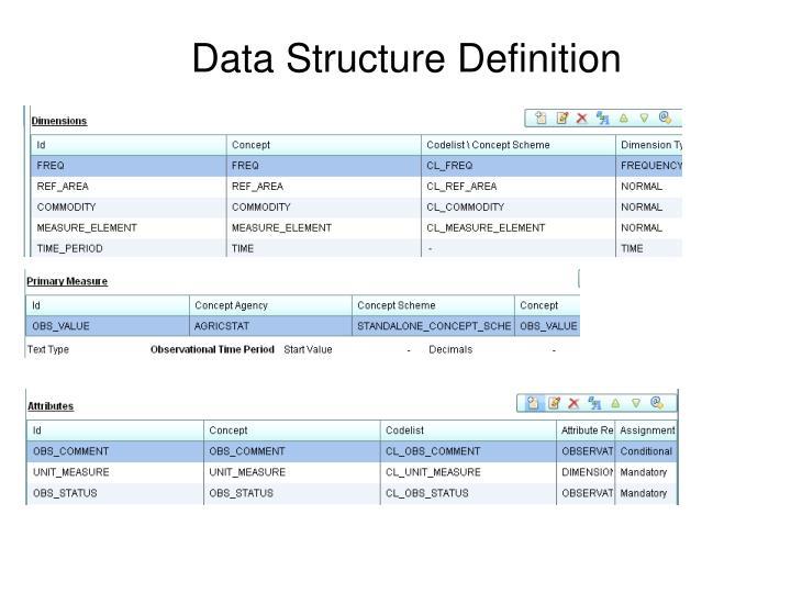 Data Structure Definition