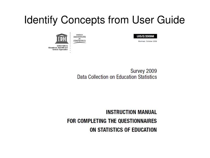 Identify Concepts from User Guide