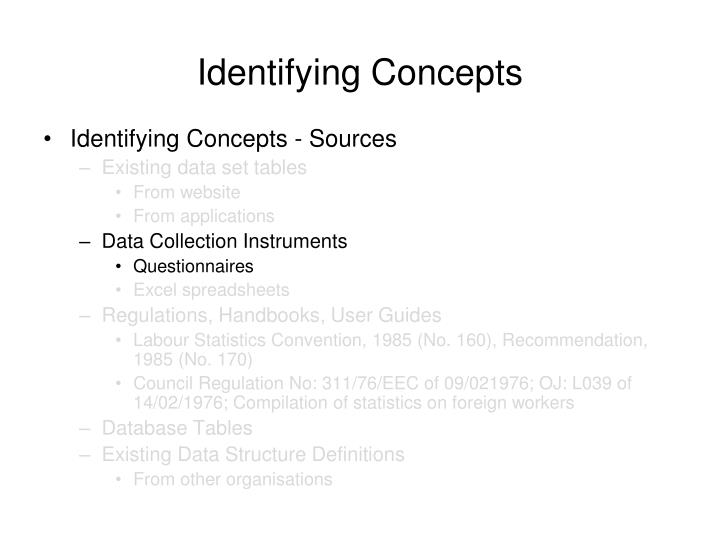 Identifying Concepts