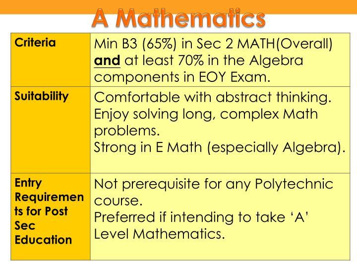 A Mathematics