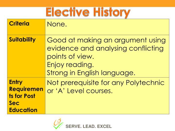 Elective History