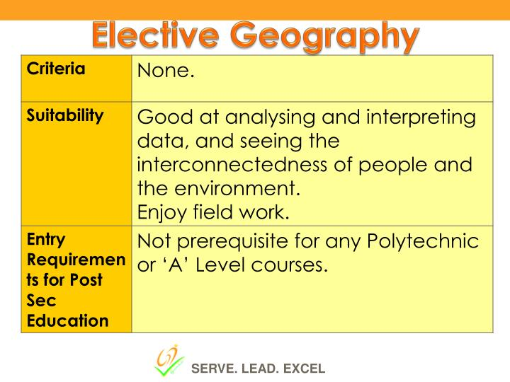 Elective Geography