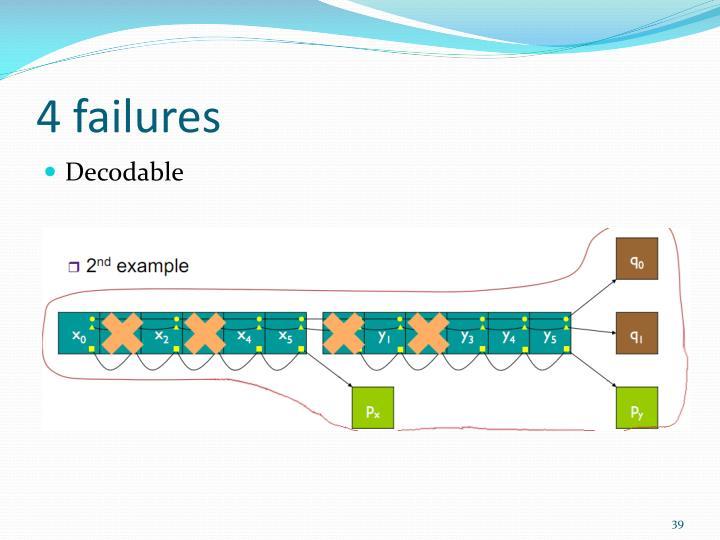 4 failures