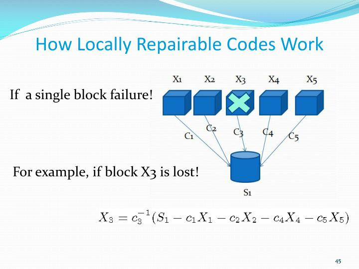 How Locally Repairable Codes Work