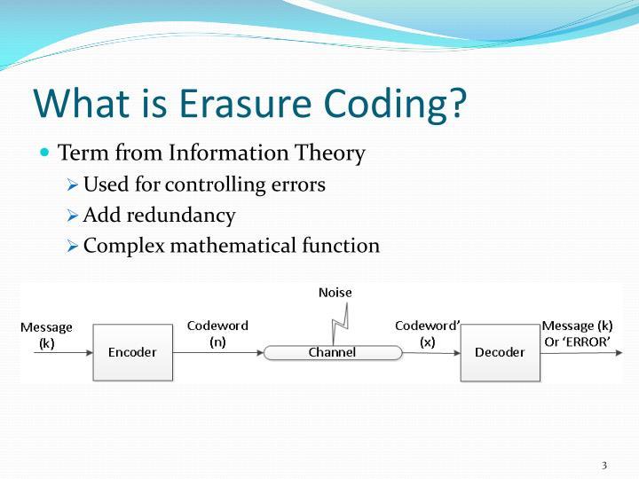 What is erasure coding