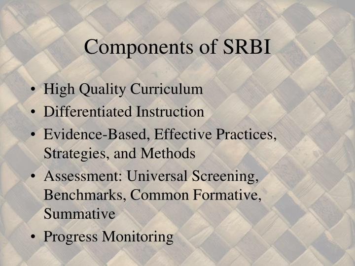 Components of SRBI