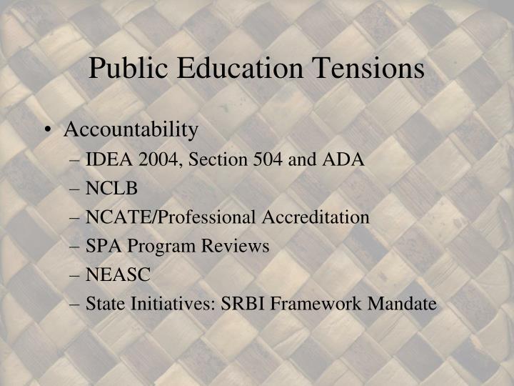 Public education tensions