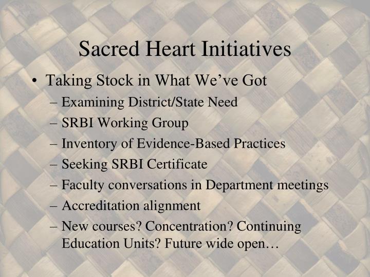 Sacred Heart Initiatives