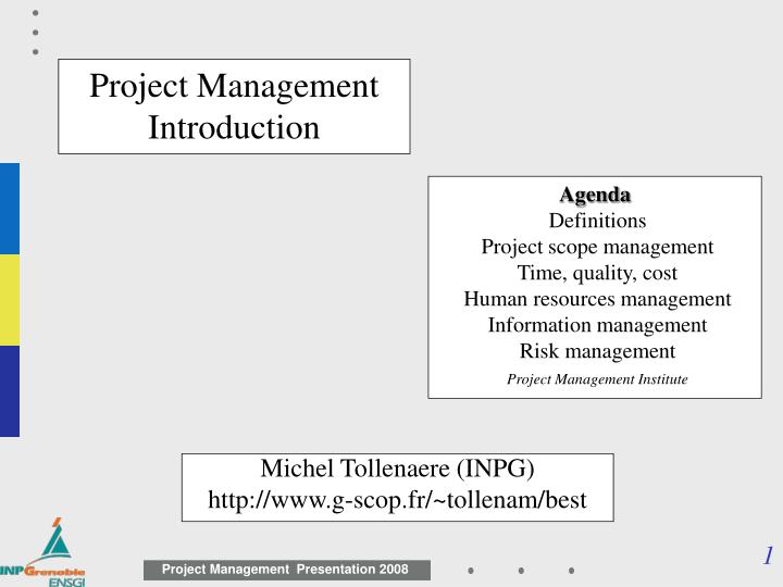 an introduction to a project scope Introduction scope management is the collection of processes which ensure that the project scope management follows a five scope management plan template.