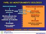papel do monitoramento biol gico