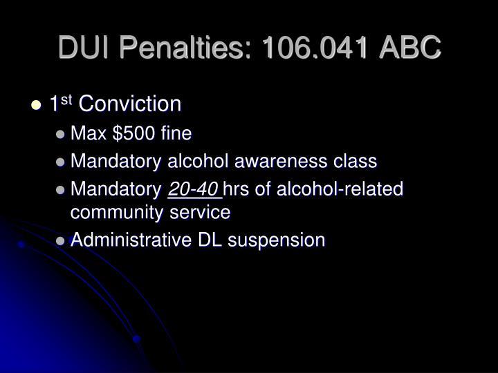 DUI Penalties