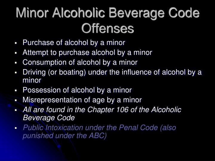 Minor Alcoholic