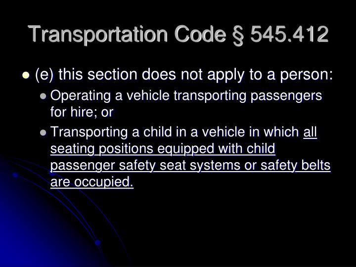 Transportation Code