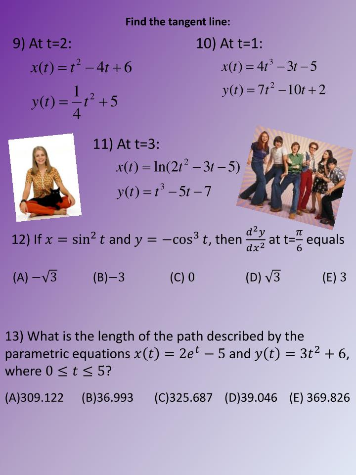 Find the tangent line:
