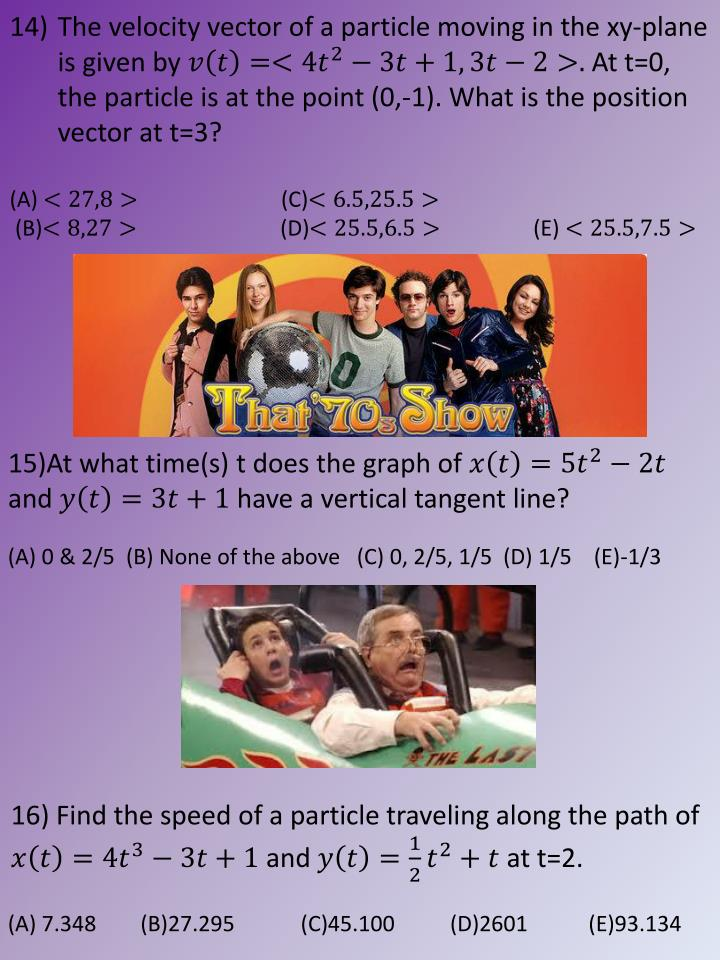 The velocity vector of a particle moving in the
