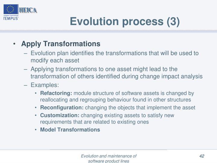 Evolution process (3)