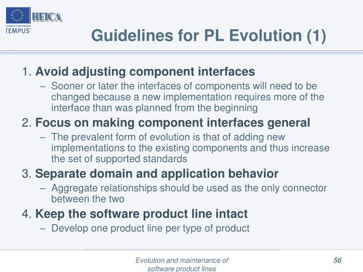 Guidelines for PL Evolution (1)