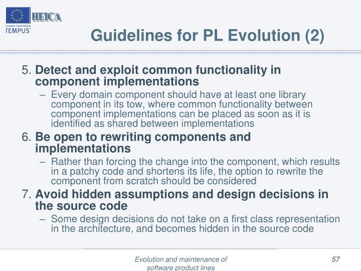 Guidelines for PL Evolution (2)