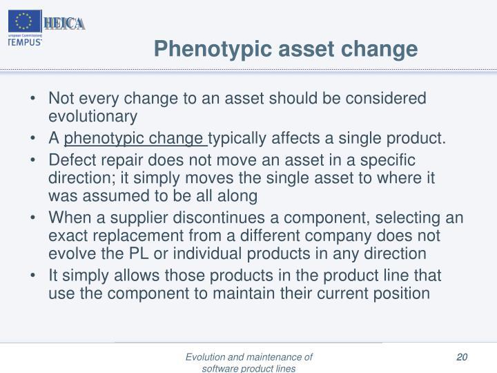 Phenotypic asset change