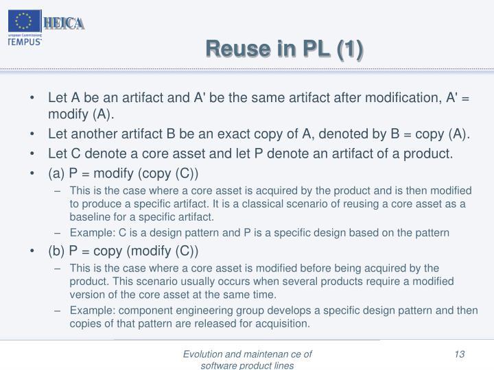 Reuse in PL (1)