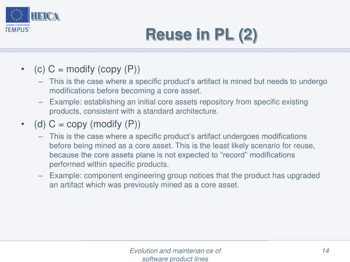 Reuse in PL (2)
