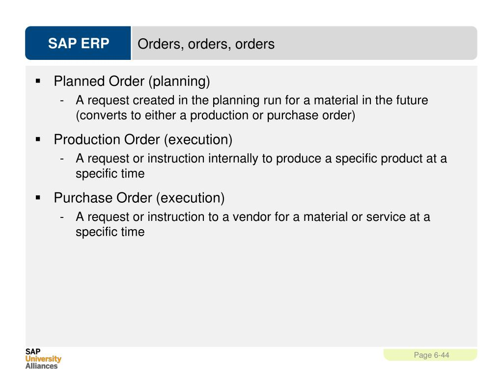 PPT - Production Planning and Execution (PP) PowerPoint Presentation