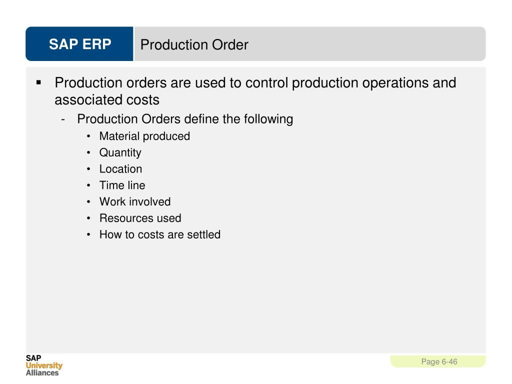 PPT - Production Planning and Execution (PP) PowerPoint