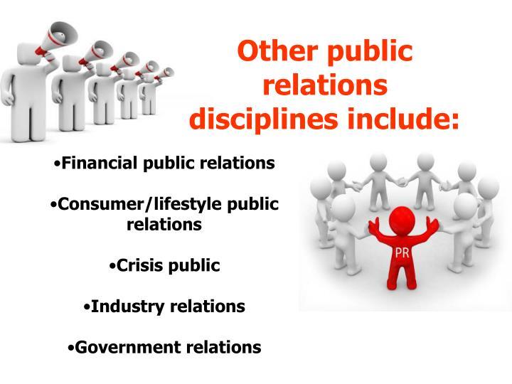 public relations pr disciplines