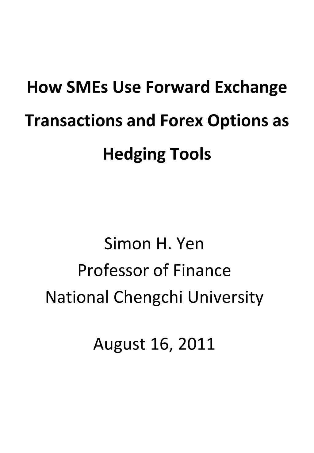 Fx options hedging