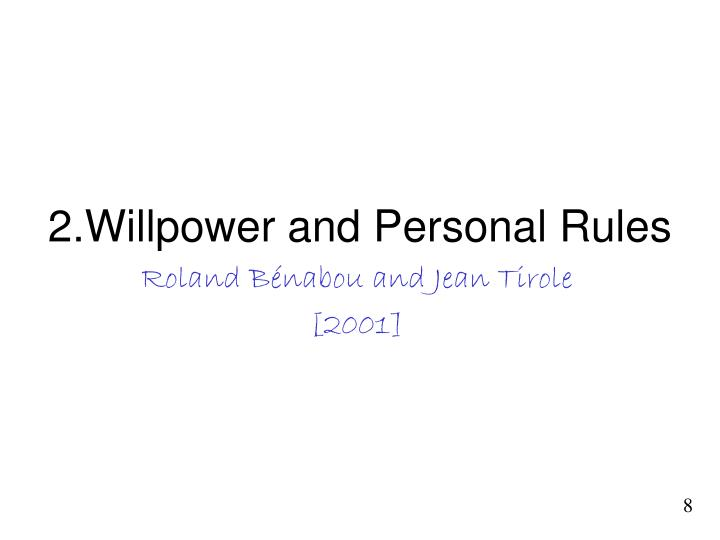 2 willpower and personal rules n.