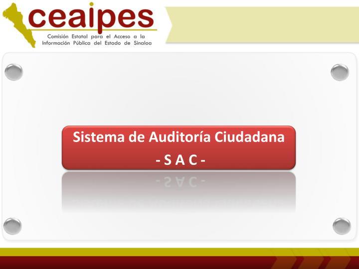 Sistema de Auditoría Ciudadana