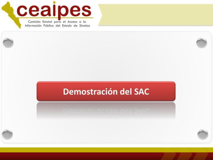 Demostración del SAC