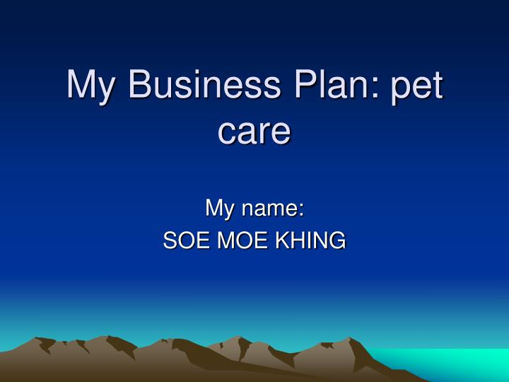 my business plan pet care n.