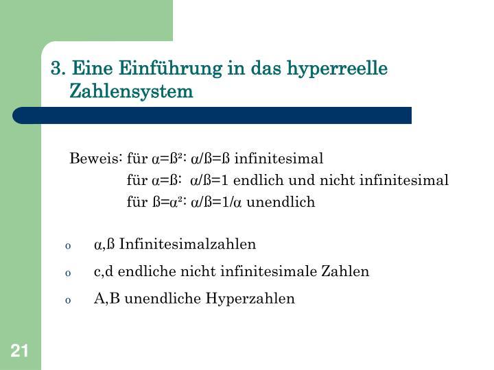 3. Eine Einführung in das hyperreelle Zahlensystem
