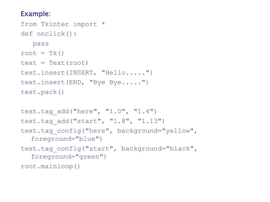 PPT - 18  Python - GUI Programming (Tkinter) PowerPoint