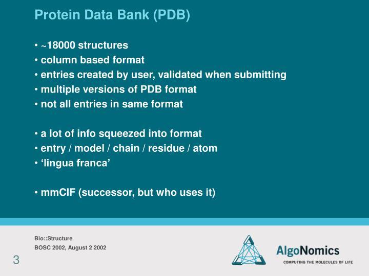 Protein data bank pdb