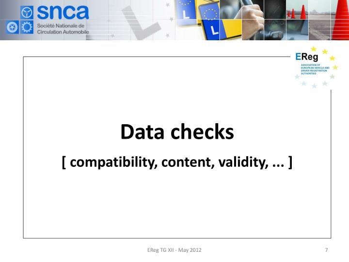 Data checks