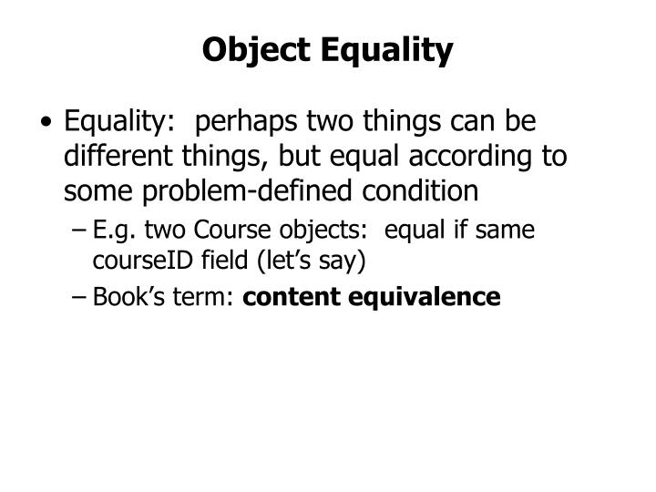 Object Equality