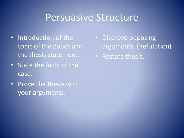 Persuasive Structure
