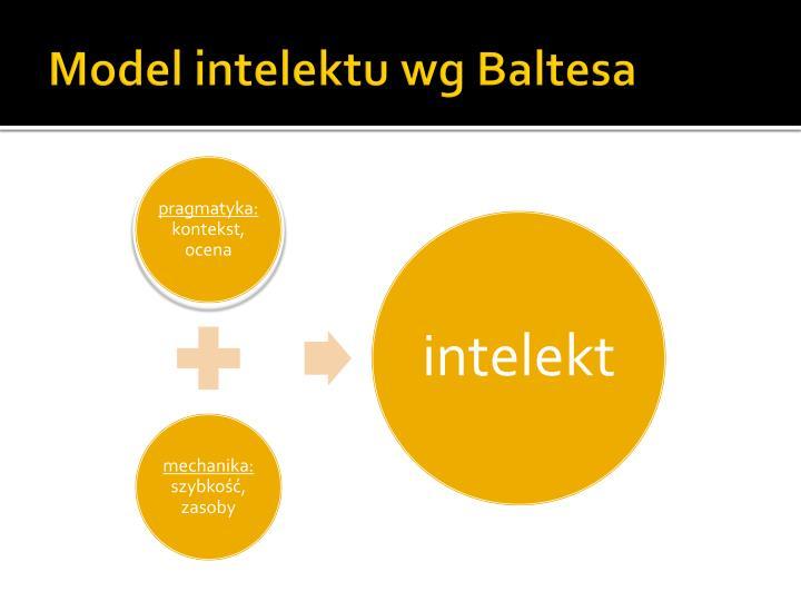 Model intelektu wg