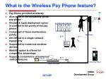 what is the wireless pay phone feature