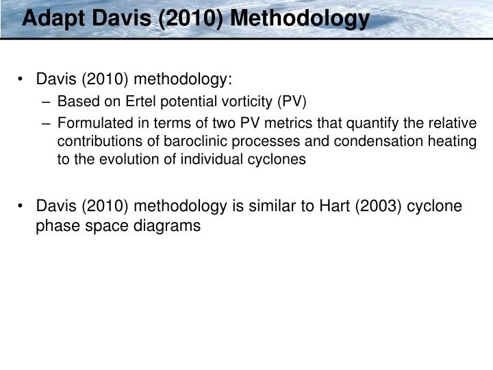 Adapt Davis (2010) Methodology