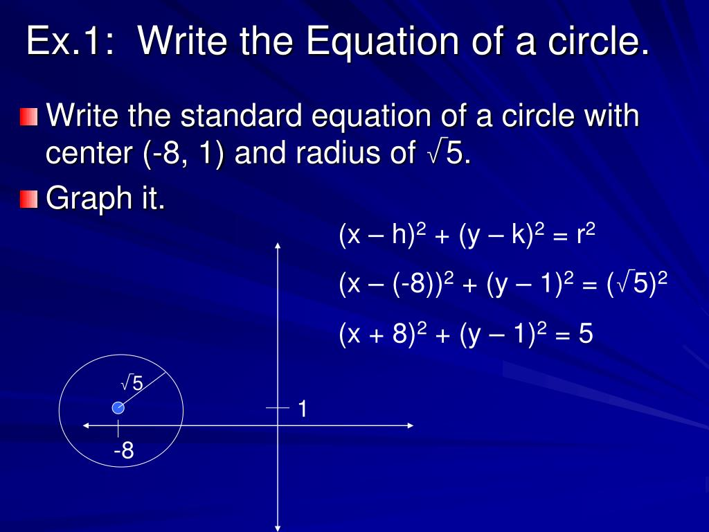 PPT - Circles In The Coordinate Plane PowerPoint