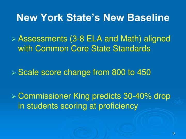 New york state s new baseline