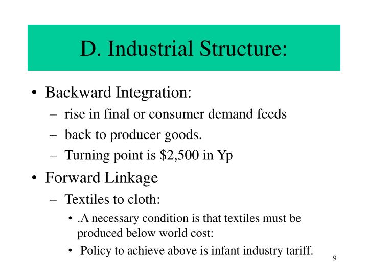 D. Industrial Structure:
