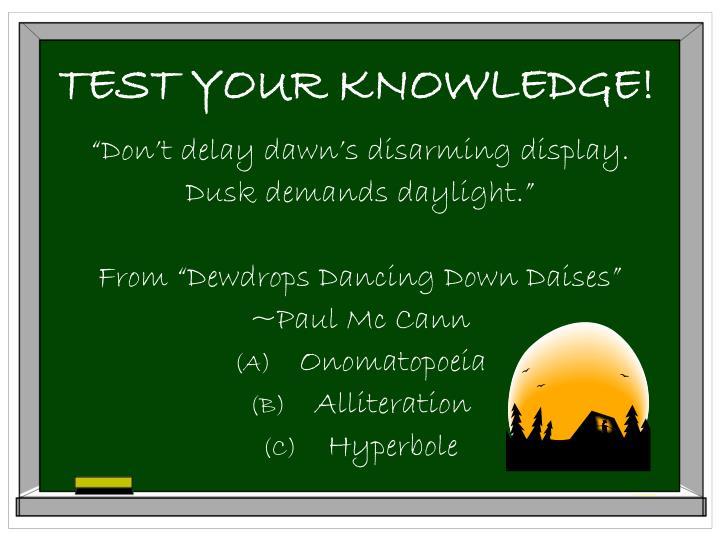 Ppt figures of speech powerpoint presentation id5577604 test your knowledge altavistaventures Choice Image